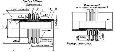Линзовый компенсатор ОСТ 34-10-573